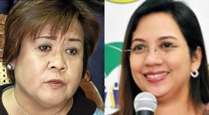 Secretary Leila de Lima and Acting Health Secretary Janette Garin. INQUIRER and DOH FILE PHOTOS