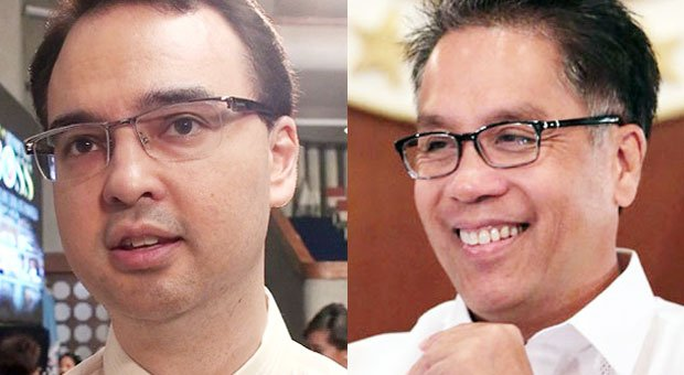 Sen. Alan Peter Cayetano (left) is the next best option after Sen. Grace Poe in the Liberal Party's search for a running mate for Interior Secretary Mar Roxas (right) in next year's presidential election, according to Speaker Feliciano Belmonte Jr. INQUIRER FILE PHOTOS