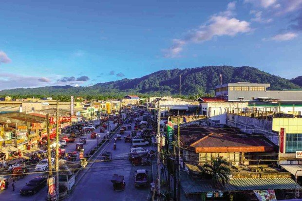 THE MAJESTIC Mount Magdiwata as seen from the town center of San Francisco in Agusan del Sur province CHRIS V. PANGANIBAN