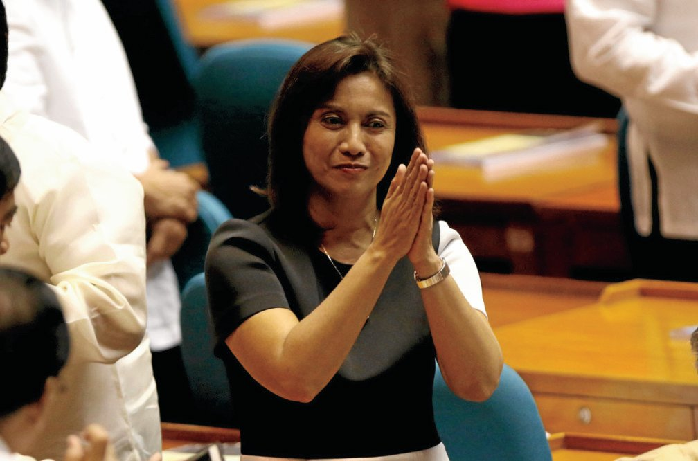 IS FIGHT OVER? Vice President-elect Leni Robredo thanks her peers and supporters after her proclamation on Monday. RICHARD A. REYES