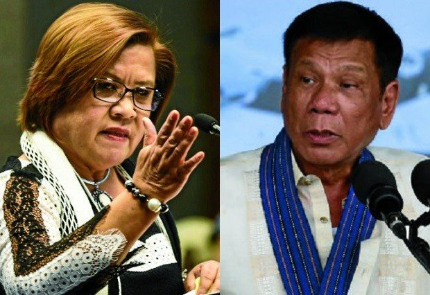 Image result for de lima duterte