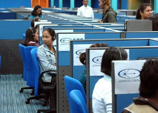 bpo-call center-afp file photo
