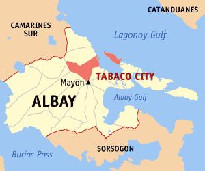 Tabaco City, Albay (Wikipedia maps)