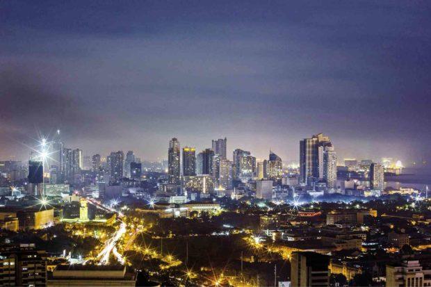 Metro Manila skyline at night