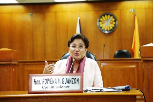 Comelec Commissioner Rowena Guanzon. File photo