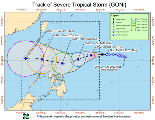 'Rolly' rapidly turns into typhoon, but Pagasa says peak intensity far from super typhoon levels | Inquirer News