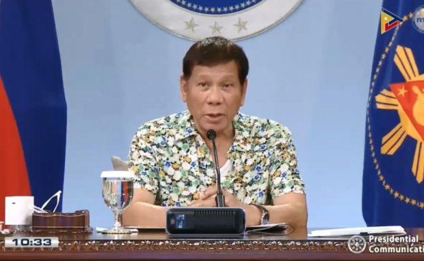 President Rodrigo Duterte (File photo from an RTVM video)