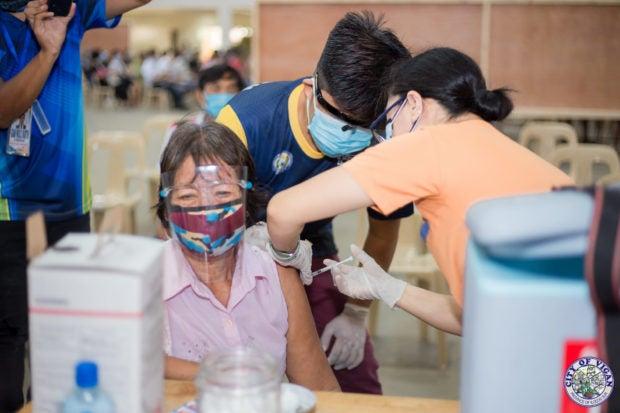 Senior Citizen at COVID-19 vaccination facility in Vigan City, Ilocos Sur