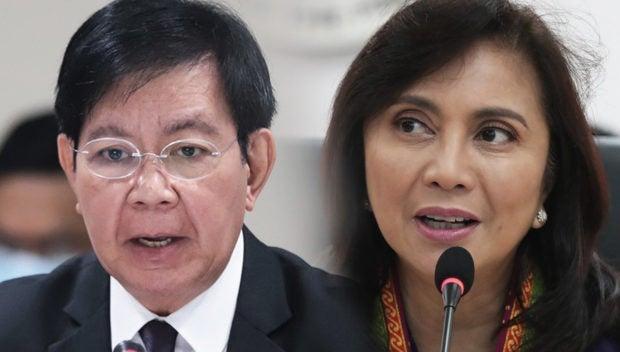 Senator Panfilo Lacson (left) and Vice President Leni Robredo (right)
