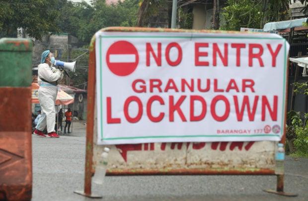 184 areas in Metro Manila under granular lockdown, says PNP