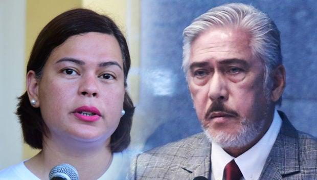 FILE PHOTOS Davao City Mayo Sara Duterte and Senate President Tito Sotto.