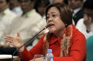 Justice Secretary Leila de Lima: Waiting for Senate report INQUIRER FILE PHOTO